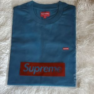 Supreme Small-Box Tee in Teal Size M
